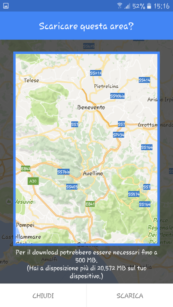 Google maps offline androidare