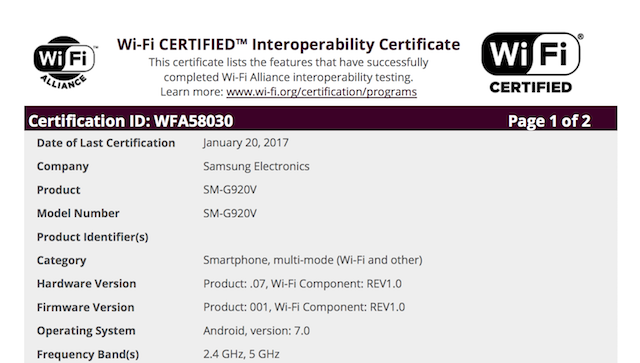 galaxy-s6-nougat-certification