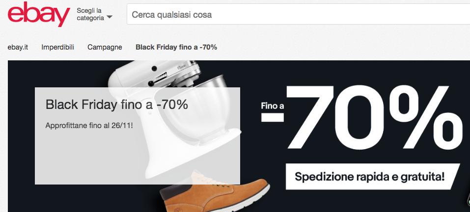Black Friday di eBay